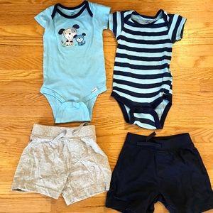 Onesies  and shorts bundle